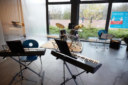 Das Instrumentarium für ein geplantes Konzert - das leider ausfallen musste