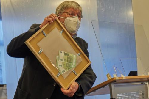 Die Urkunde rückseitig - 300 € Geldprämie